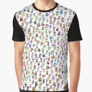 Animal Crossing New Leaf - All Villagers Graphic T-Shirt RB3004product Offical Animal Crossing Merch