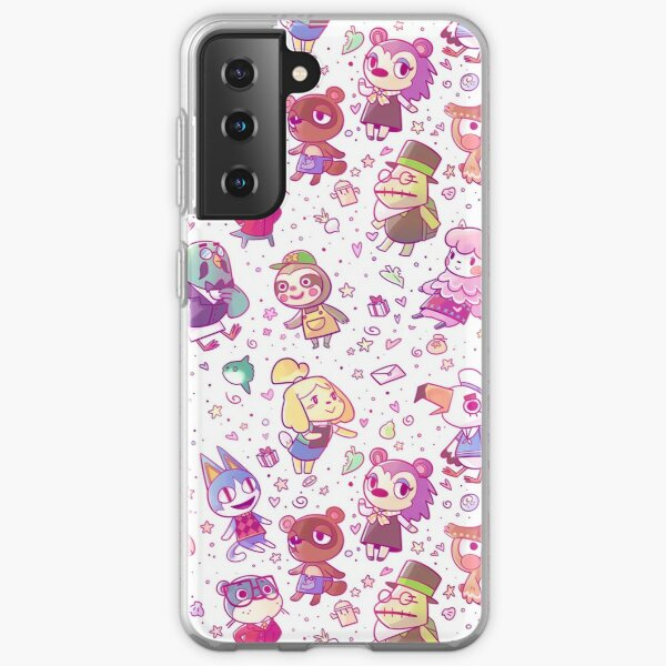 Animal Crossing Pattern Samsung Galaxy Soft Case RB3004product Offical Animal Crossing Merch