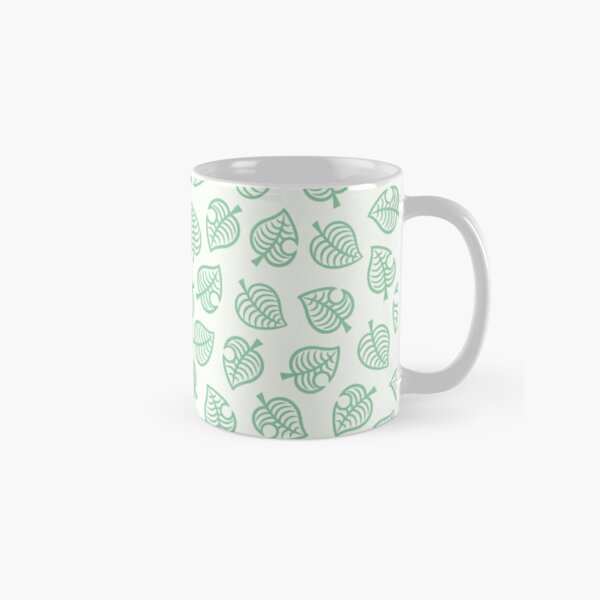 Animal Crossing New Horizons Leaf pattern Classic Mug RB3004product Offical Animal Crossing Merch