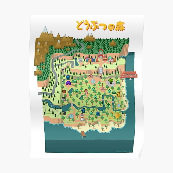 Animal Crossing / どうぶつの森 Poster RB3004product Offical Animal Crossing Merch