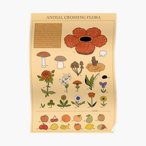 CROSSING FLORA ANIMAL Poster RB3004product Offical Animal Crossing Merch