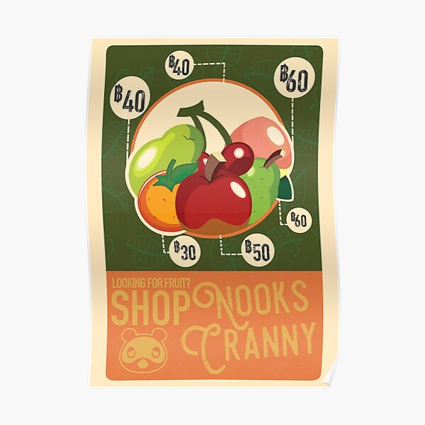 Nooks Cranny Poster RB3004product Offical Animal Crossing Merch