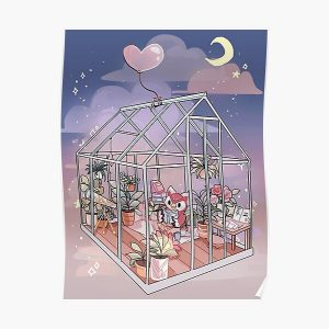 Celeste At Home - Animal Crossing Inspired Artwork Poster RB3004product Offical Animal Crossing Merch