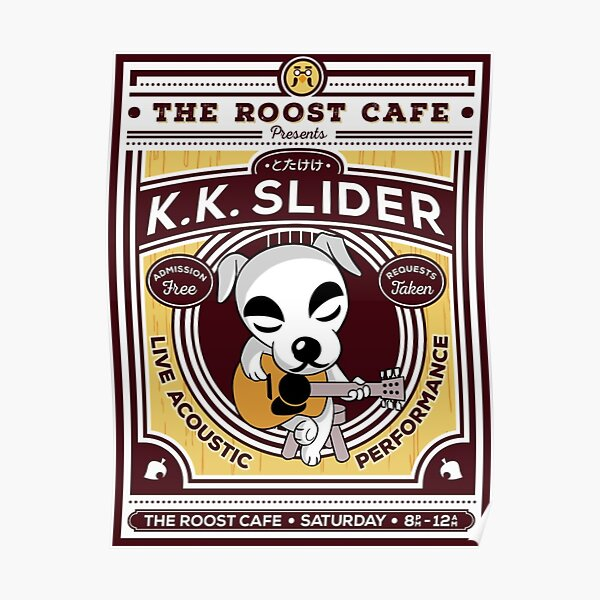THE ROOST CAFE K.K.SLIDER Poster RB3004product Offical Animal Crossing Merch