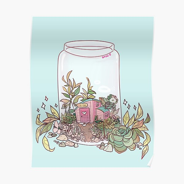 Retail terrarium Poster RB3004product Offical Animal Crossing Merch