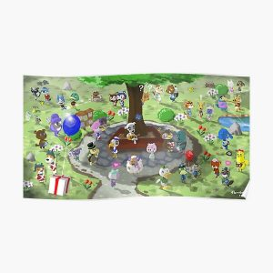 Welcome to Animal Crossing Poster RB3004product Offical Animal Crossing Merch