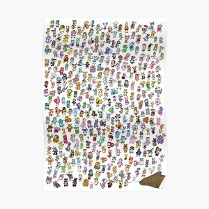 Animal Crossing New Leaf - All Villagers Poster RB3004product Offical Animal Crossing Merch
