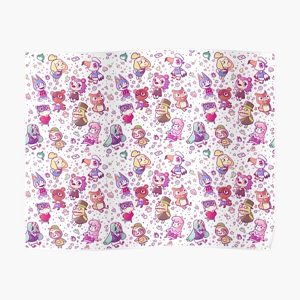 Animal Crossing Pattern Poster RB3004product Offical Animal Crossing Merch