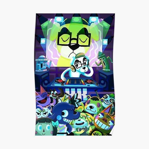 DJ KK Animal Crossing Poster RB3004product Offical Animal Crossing Merch