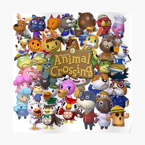 Animal Crossing Collage Poster RB3004product Offical Animal Crossing Merch
