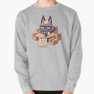 Raymond in Boxes // Cat Smug Villager, Animal Crossing, Kawaii Pullover Sweatshirt RB3004product Offical Animal Crossing Merch