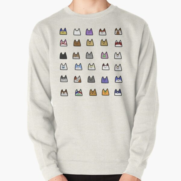all the animal crossing cats!!  Pullover Sweatshirt RB3004product Offical Animal Crossing Merch