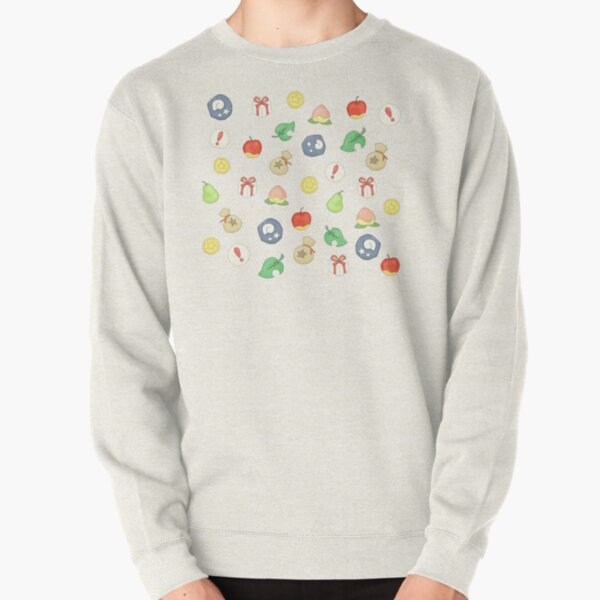 Animal Crossing Logo Pattern Pullover Sweatshirt RB3004product Offical Animal Crossing Merch