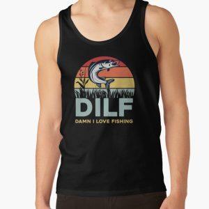 DILF-Damn I Love Fishing Funny Saying Fishermen Men Women T-Shirt Tank Top RB3004product Offical Animal Crossing Merch