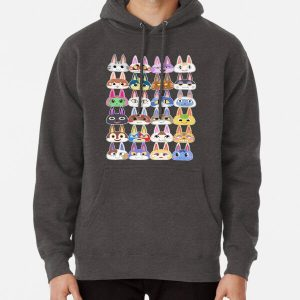 Animal Crossing Cat Villager Heads Pullover Hoodie RB3004product Offical Animal Crossing Merch