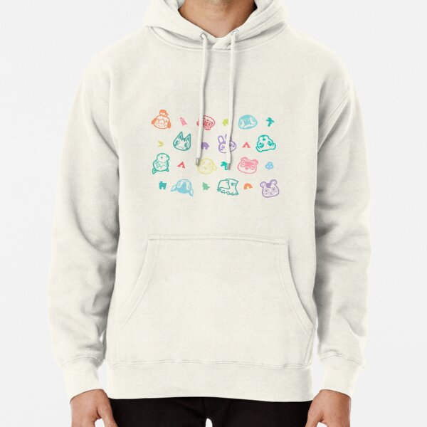 Villager Characters Animal Crossing New Horizons Pattern  Pullover Hoodie RB3004product Offical Animal Crossing Merch