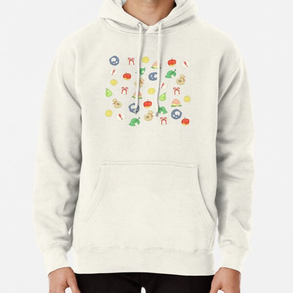 Animal Crossing Logo Pattern Pullover Hoodie RB3004product Offical Animal Crossing Merch