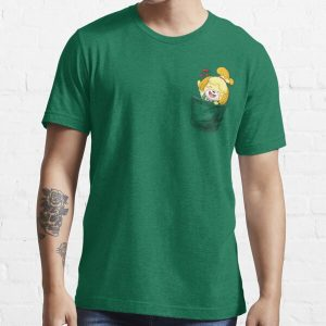 Isabelle Pocket Tee Essential T-Shirt RB3004product Offical Animal Crossing Merch