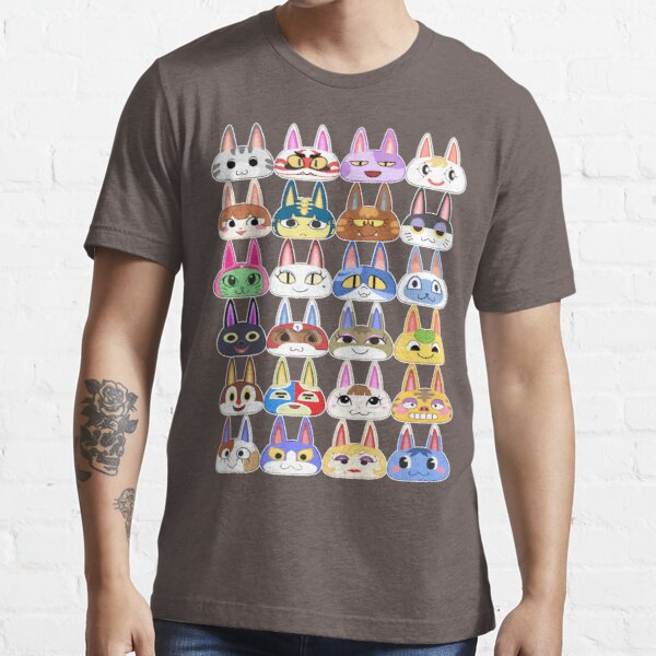 Animal Crossing Cat Villager Heads Essential T-Shirt RB3004product Offical Animal Crossing Merch