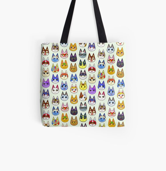 Animal Crossing Cats All Over Print Tote Bag RB3004product Offical Animal Crossing Merch