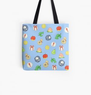 Animal Crossing Logo Pattern All Over Print Tote Bag RB3004product Offical Animal Crossing Merch