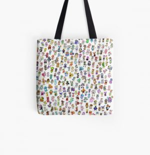Animal Crossing New Leaf - All Villagers All Over Print Tote Bag RB3004product Offical Animal Crossing Merch