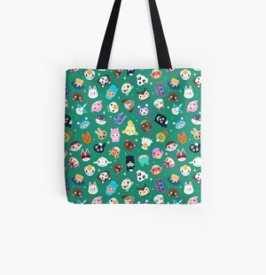 Happy Town All Over Print Tote Bag RB3004product Offical Animal Crossing Merch