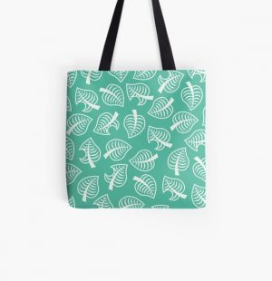 Animal Crossing New Horizon Inspired Leaf Pattern All Over Print Tote Bag RB3004product Offical Animal Crossing Merch