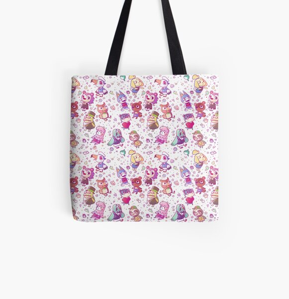 Animal Crossing Pattern All Over Print Tote Bag RB3004product Offical Animal Crossing Merch