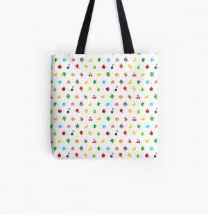 Animal Crossing Icons All Over Print Tote Bag RB3004product Offical Animal Crossing Merch