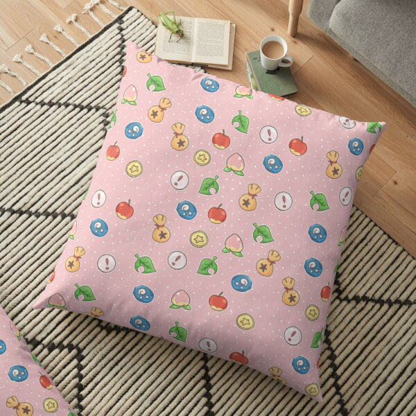 Animal Crossing Icons v.2  Floor Pillow RB3004product Offical Animal Crossing Merch