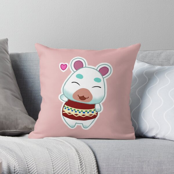 Flurry - Animal Crossing Throw Pillow RB3004product Offical Animal Crossing Merch