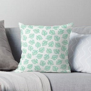 Animal Crossing New Horizons Nook Inc. Pattern Throw Pillow RB3004product Offical Animal Crossing Merch