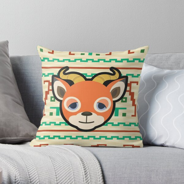 BEAU ANIMAL CROSSING Throw Pillow RB3004product Offical Animal Crossing Merch