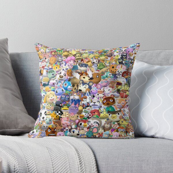 Animal Crossing (Duvet, Phoen case, sticker etc) Throw Pillow RB3004product Offical Animal Crossing Merch