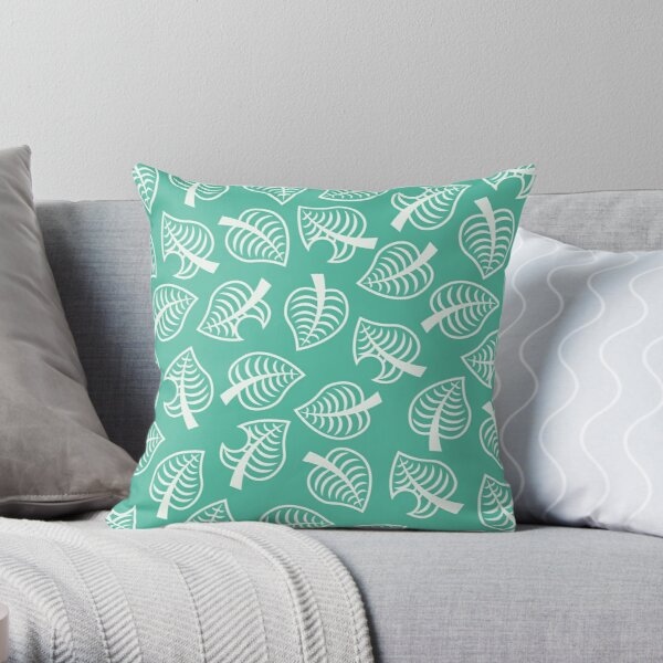 Animal Crossing New Horizon Inspired Leaf Pattern Throw Pillow RB3004product Offical Animal Crossing Merch