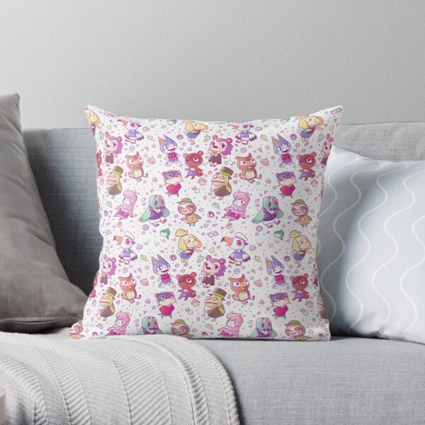 Animal Crossing Pattern Throw Pillow RB3004product Offical Animal Crossing Merch
