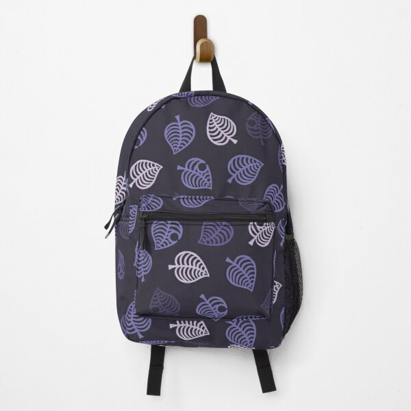 Nook Leaf Aloha Logo - Purple/Lavender on Dark Purple  Backpack RB3004product Offical Animal Crossing Merch