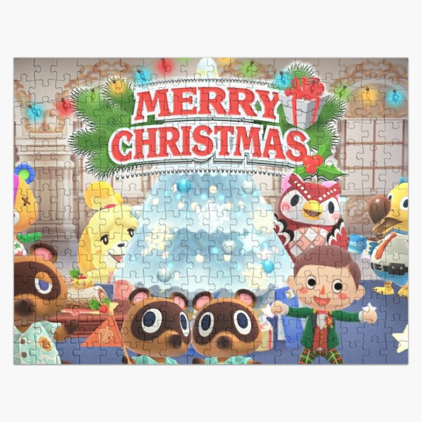 Animal Crossing Inspired Artwork - Merry Christmas Jigsaw Puzzle RB3004product Offical Animal Crossing Merch