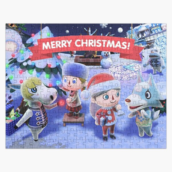 Animal Crossing Inspired Artwork ( Merry Xmas ) Jigsaw Puzzle RB3004product Offical Animal Crossing Merch