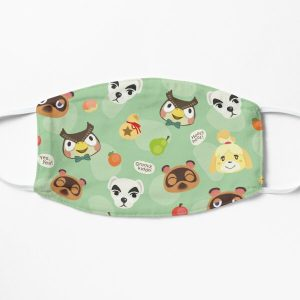 Animal crossing pattern Flat Mask RB3004product Offical Animal Crossing Merch