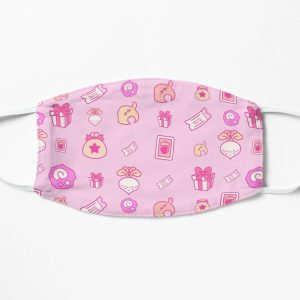 Animal crossing repeating pattern Flat Mask RB3004product Offical Animal Crossing Merch