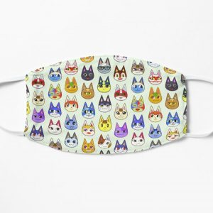 Animal Crossing Cats Flat Mask RB3004product Offical Animal Crossing Merch