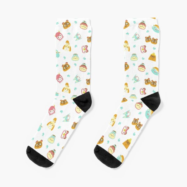 Animal Crossing Pattern white/clear Socks RB3004product Offical Animal Crossing Merch